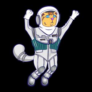 Katze Beruf Job Astronaut Weltall fun Geschenk