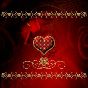 Wunderbares dekoratives Herz auf Weinlesehintergrund