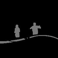 Menschen Gruppe Joggen