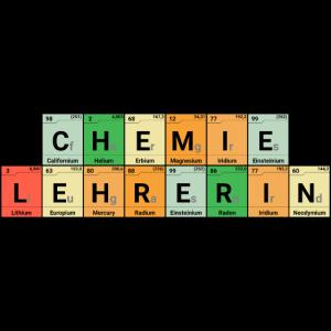 Chemie Lehrerin Elemente bunt