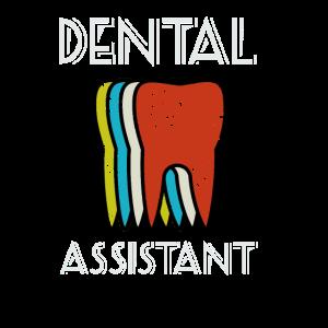 Dental Assistant Retro Tooth Design