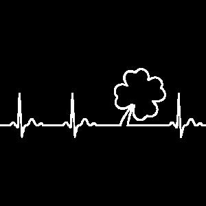 Herzschlag Kleeblatt Irland Liebe Geschenk