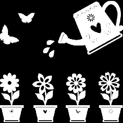 Pflanzen gießen - Bewässern Sie die Pflanzen und Blumen des Gartens - gärtnern,Gießen,Garten,Blumen