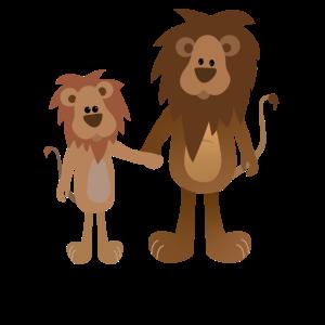 süße Löwen Geschwister, big brother