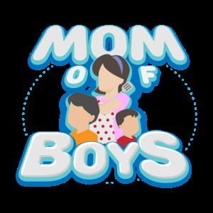 Mutter Mama Geschenkidee Söhne Mom of boys
