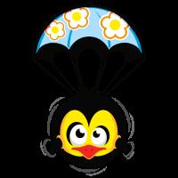 lustig vogel fallschirm
