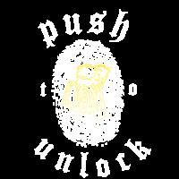 push to unlock /drücken umzu aktivieren Bier print