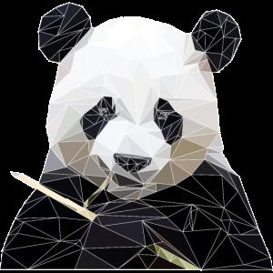 Panda Polygon Trend Design Geschenkidee