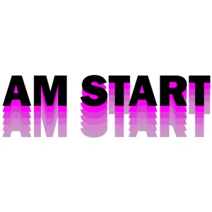 am Start - pink schwarz faded