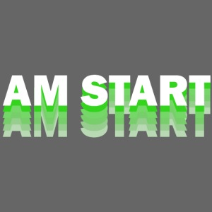 am Start - grün weiß faded
