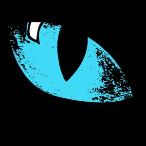 Auge blau Katze Idee Geschenk