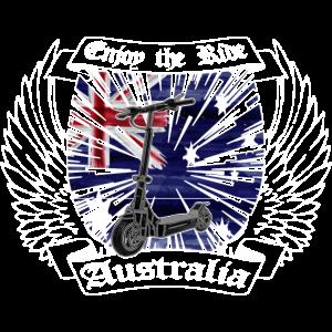 Escooter Electricscooter Australien Wappen
