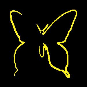 Ein wunderschöner gelber Schmetterling