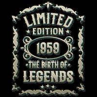Geboren 1959 - Geschenk T-Shirt für 60. Geburtstag