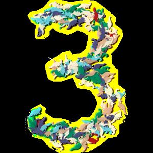 3. Geburtstag Dino Konfetti Shirt