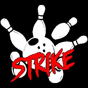 Bowling pins strike