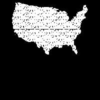 Amerika USA Karte Buchstaben