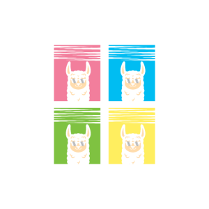 Awesome Pop Art Llama with Sunglasses/ Wild Animal