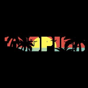 Tropics Doppelbelichtung Palmen Geschenk