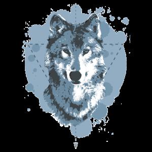 WOLF - GEOMETRIE - BLAU