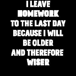 Ich leave homework