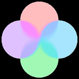 pastell-kreise mit Überlagerung