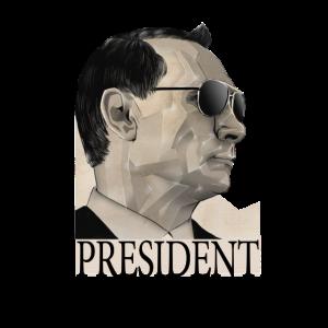 Russland Polygonal Porträt Putin Polygon