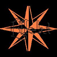 Effekt mit orangenem Stern