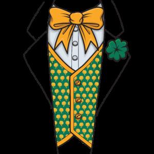 St Patricks Day Anzug mit Flieg Tuxedo Suit Irland