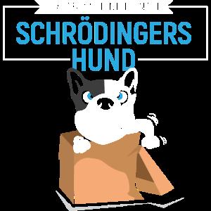 Lustiges Schrödingers Katze / Hund T-Shirt