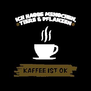 Ich hasse Menschen Ich liebe Kaffee Tasse Geschenk