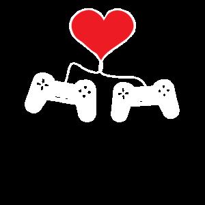 Tolles Gaming Shirt zum Valentinstag für Partner