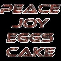 Peace Joy Eggscake Rost