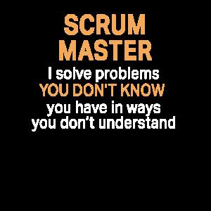 Lustiger Scrum Master Lösen Sie Probleme Design