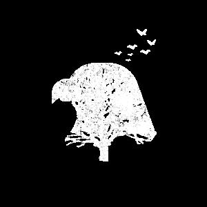 Adlerkopf Silhouette Doppelbelichtung