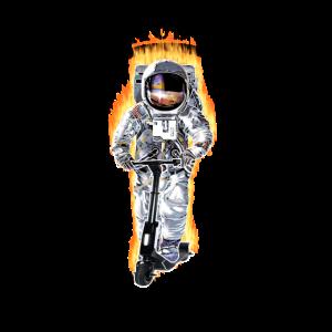 Escooter Electricscooter Astronaut