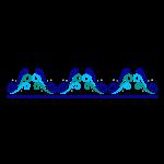 disegno onde azzurre pappa