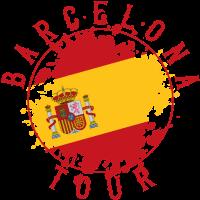barcelona reise flagge