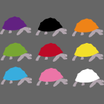 Bunte Schildkröten in lebendigen Farben für Kinder