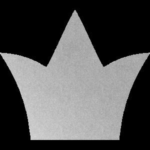 Krone silber Symbol Held Sieger Geschenk