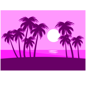 panorama, palme, strand, urlaub, paradies, sonne