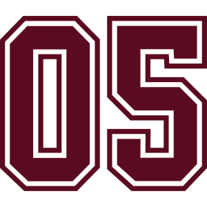 05 sports jersey football number mono
