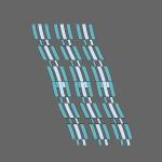 linee astratte azzurre