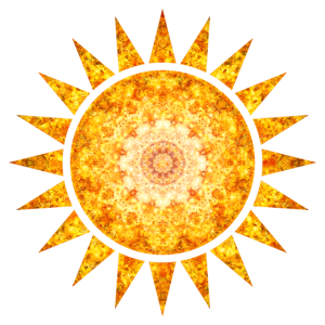 Farbige Sonne