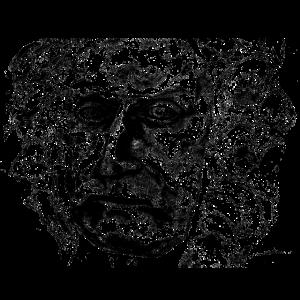 Portraet Mann Black