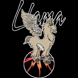 Llama with wings- lama