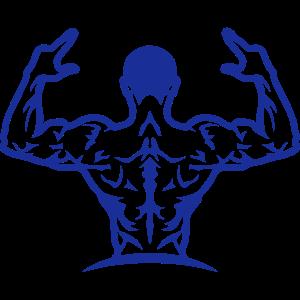 Bodybuilding Rückenmuskelmann 1063