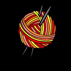 Strickmädchen Stricken Wolle Strickmädels Geschenk