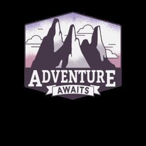 """Adventure awaits"" - stylisches Outdoor - Tee"