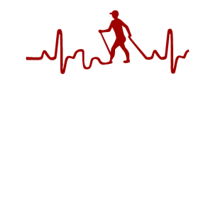 Nordic Walking Sport heartbeat geschenkidee